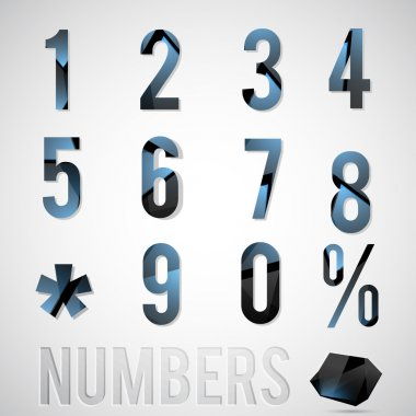 Vector numbers vector illustration