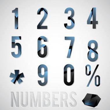 Vector numbers vector illustration stock vector
