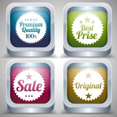 Set of label. Best price, Premium quality, Sale, Original label. Vector illustration stock vector