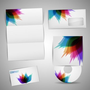 Selected Corporate Templates vector illustration stock vector