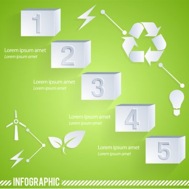 Eco infographic elements. Vector set stock vector
