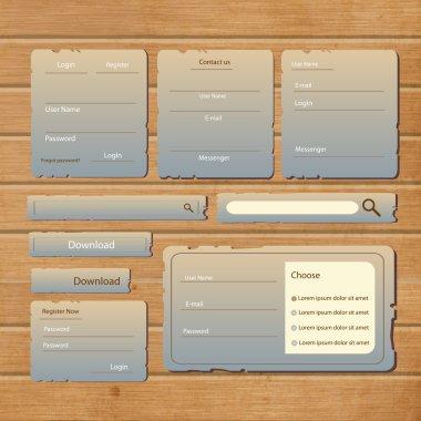Web site design template navigation elements stock vector