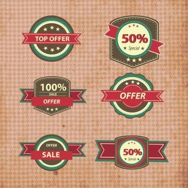 Retro discount sign vector illustration stock vector