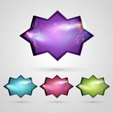 Glossy buttons vector illustration stock vector