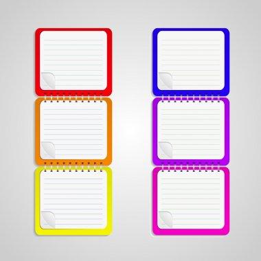 Set of vector notebook stock vector