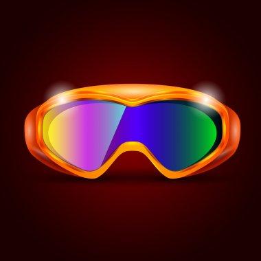 Ski sport goggles vector illustration stock vector