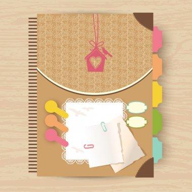 Elegant card vector illustration stock vector