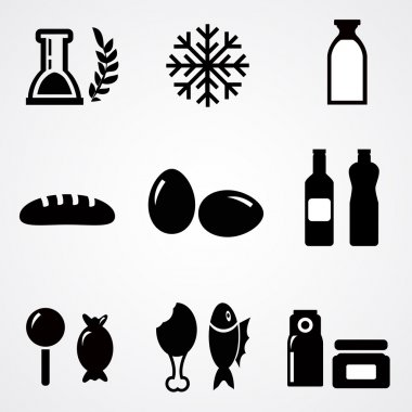 Food icons. Vector illustration stock vector