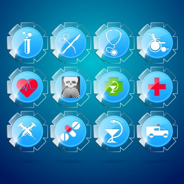Vector set of medical icons. stock vector
