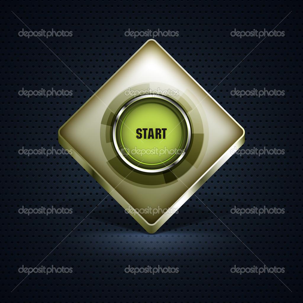 Button Start vector illustration stock vector