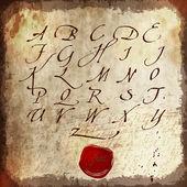 Calligraphic alphabet vector illustration