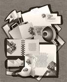 Grungy retro background. vector illustration