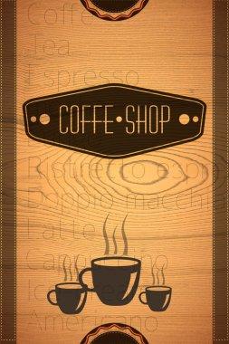Coffe shop label vector illustration stock vector