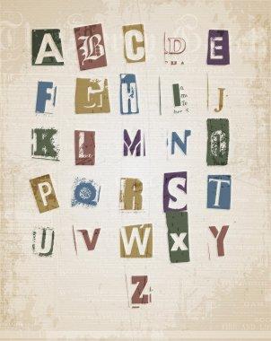 Sketched alphabet set vector illustration stock vector