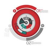vier Schritte Prozess Vektor Illustration