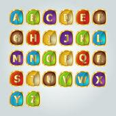 Sada abeceda. Vektorové ilustrace
