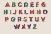 cartoon alphabet vector illustration