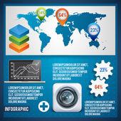 Készlet elemeinek infographics. Vektor