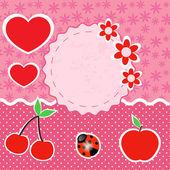 Vektor Set von rosa Rahmen mit Herzen.