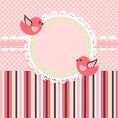 Vektorrahmen mit Vögeln.
