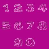 Numbers set, vector illustration