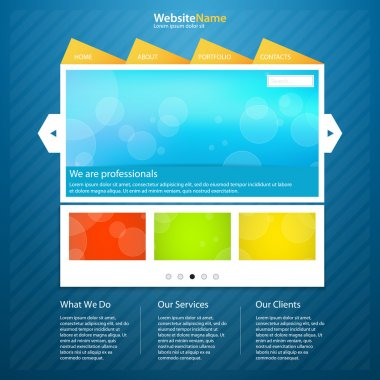 Template of website vector illustration stock vector