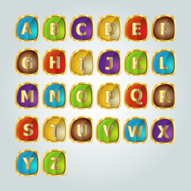 Alphabet set.  vector illustration stock vector