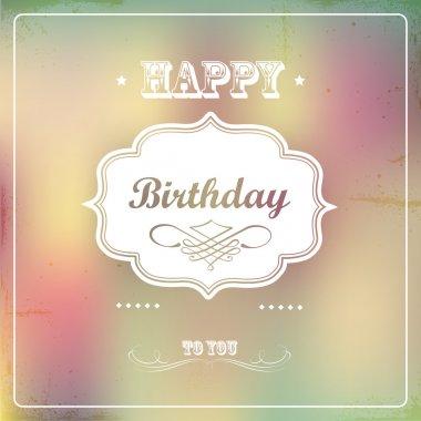 Vintage retro happy birthday card stock vector