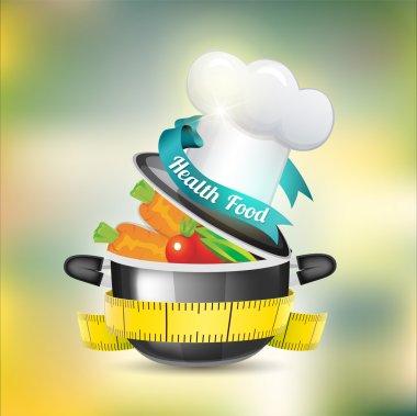 Health Food Icon vector illustration stock vector