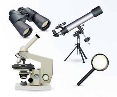 Optical equipment vector illustration stock vector