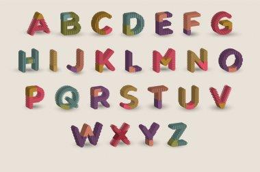 Cartoon alphabet vector illustration stock vector