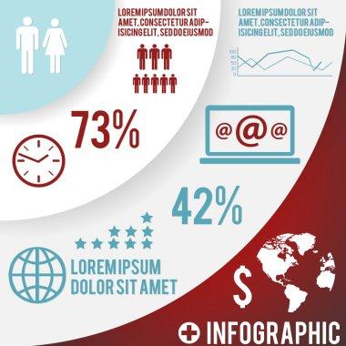Set elements of infographics. Vector stock vector