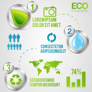 Ecology info graphics, elements and icons stock vector