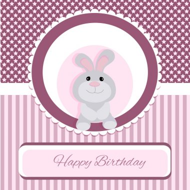 Vector greeting card with rabbit stock vector
