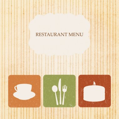 Vintage restaurant menu design. stock vector