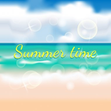 Summertime background with beach stock vector