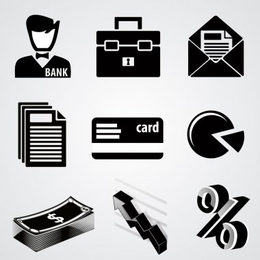 Vector set of business icons. stock vector