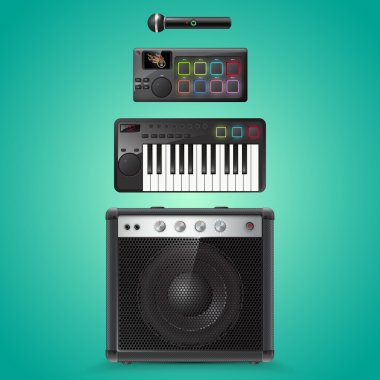Sound equipment vector icons stock vector