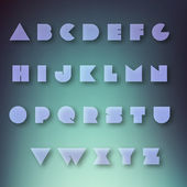 Vector set of alphabet