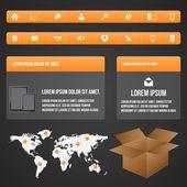 Elemente der Infografik setzen