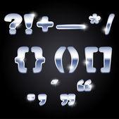 set of punctuation marks, vector illustration
