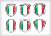 Italian safety label vector over white
