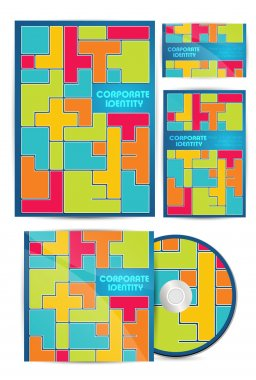 Vector colorful corporate identity stock vector