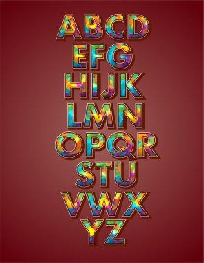 Vector alphabet, vector illustration stock vector