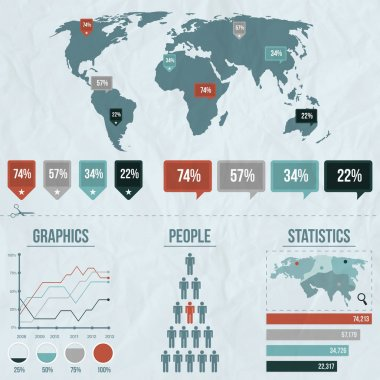 Elements of infographics, vector illustration stock vector