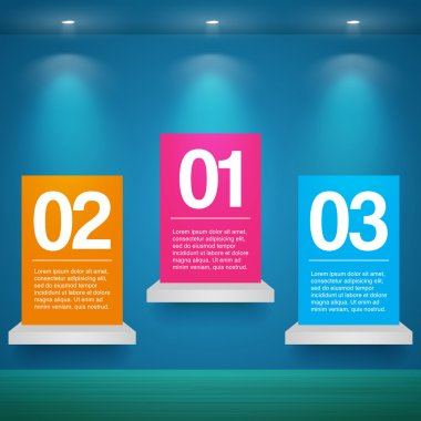 Vector set of banners with numbers stock vector