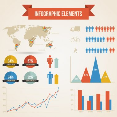 Infographics with a population stock vector