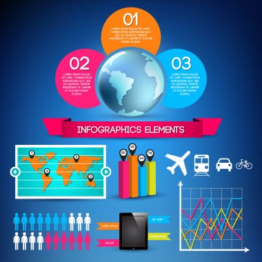 Set of infographic elements stock vector