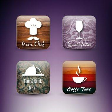 Set of restaurant icons stock vector