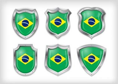Brazil shield , vector illustration stock vector